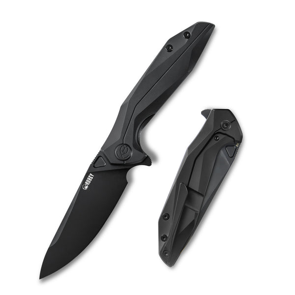 KUBEY Nova KU235G D2 black 6AL4V Titanium Outdoor Folding Knife