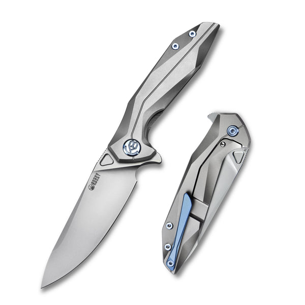 KUBEY Nova KU235F  D2  6AL4V Titanium Outdoor Folding Knife