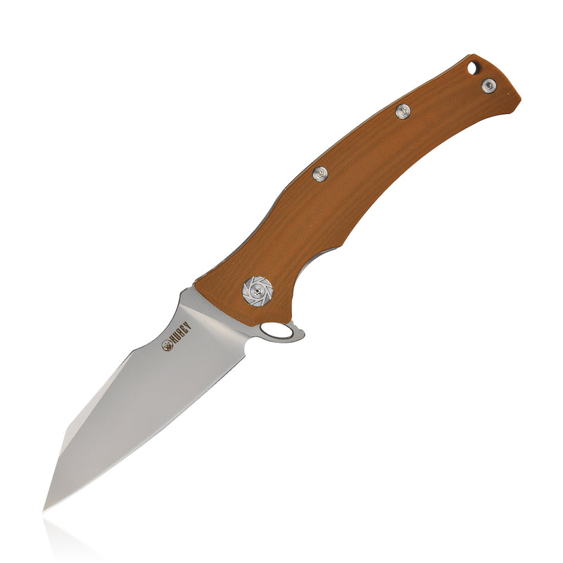 "KUBEY Solider KU214 Camping and Outdoor Folding Knife [3.5""Sandblast D2, G10]"