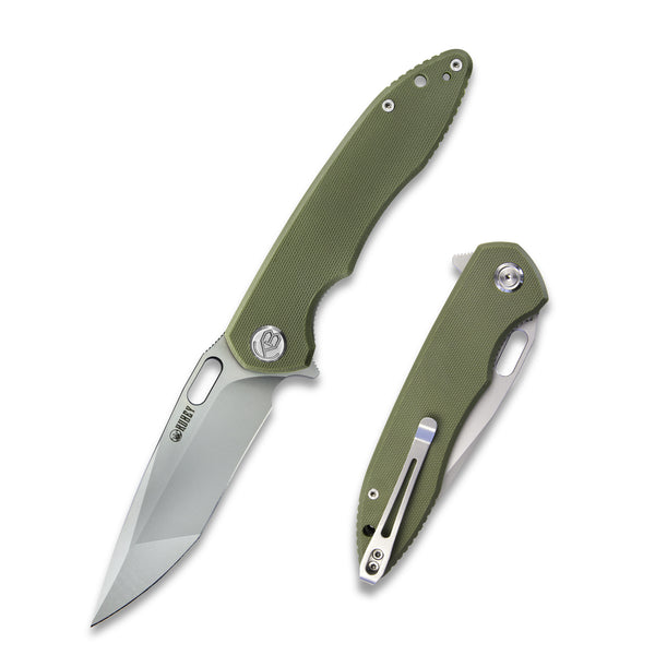 KUEBY KU003B Darkness D2 Tan G10  Flipper Knife