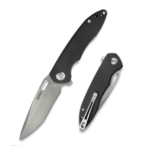 KUEBY KU003 Darkness D2 Tan G10  Flipper Knife