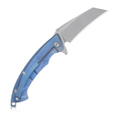 Anteater - KB153 D2 Tanto Blade Folding Pocket Knife With Deep Carry Clip