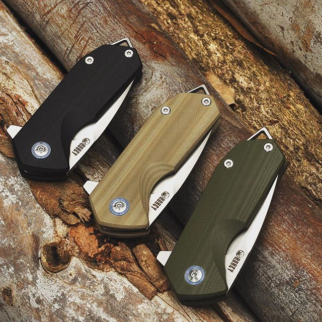 "Kubey Chubby - KU203 D2 Tanto 2.75"" Folding Pocket Knife G10 Handle With Solide Liner Lock"
