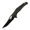 "KUBEY KU149 Outdoor Folding Knife [3.7""Black Titanium Plating D2, G10] - KnifeGlobal Store"