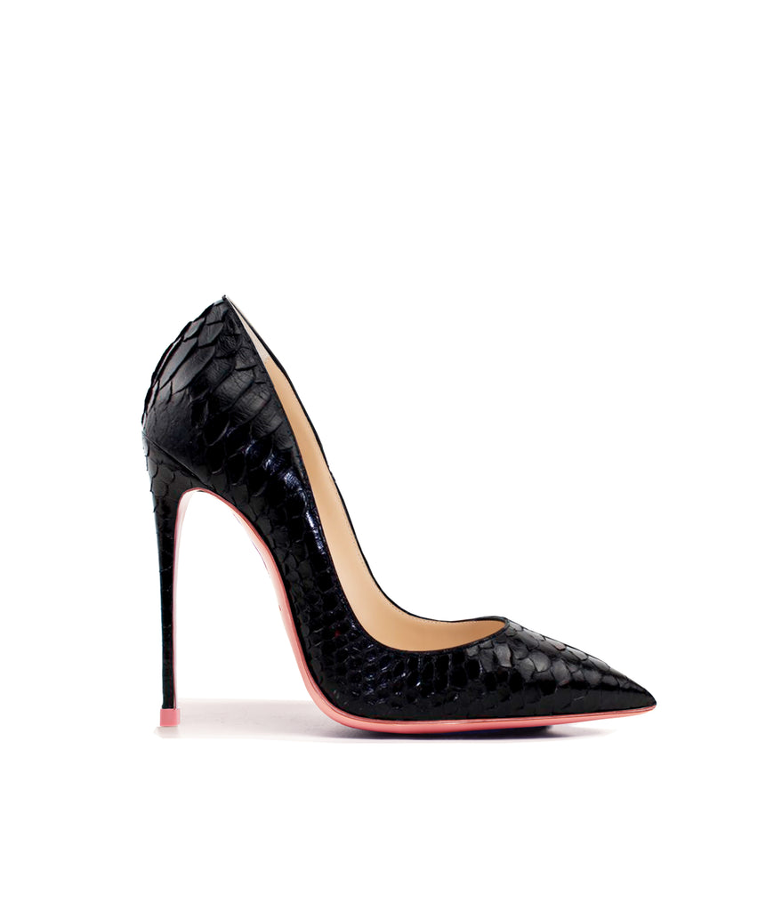 Adhara Black Python  · Ada de Angela High Heels Shoes · Custom Made Shoes · High Heels Shoes · Luxury High Heels · Pumps · Stiletto · High Heels Stiletto