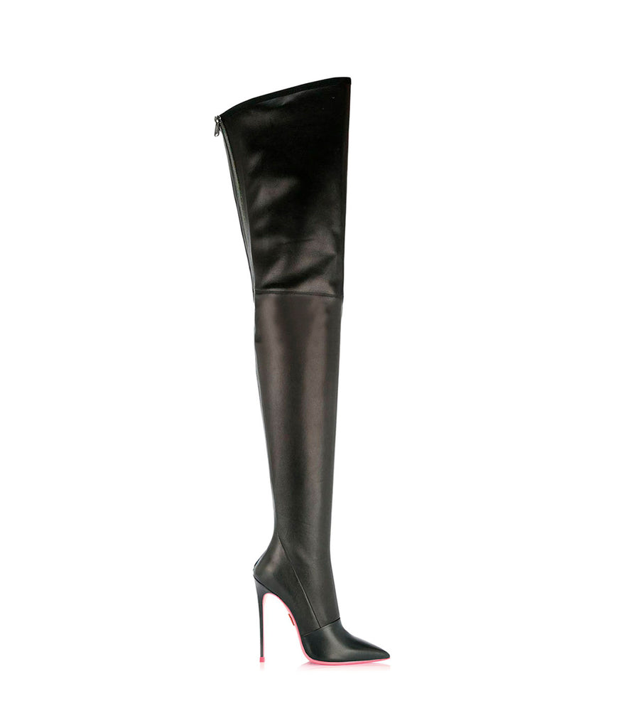 Cursa Black stretch  · Ada de Angela High Heels Boots · Ada de Angela Shoes · High Heels Boots · Luxury Boots · Knee High Boots · Stiletto · Leather Boots · Custom Made Boots
