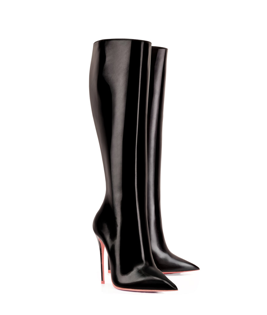 Deneb Black · Ada de Angela High Heels Boots · Ada de Angela Shoes · High Heels Boots · Luxury Boots · Knee High Boots · Stiletto · Leather Boots