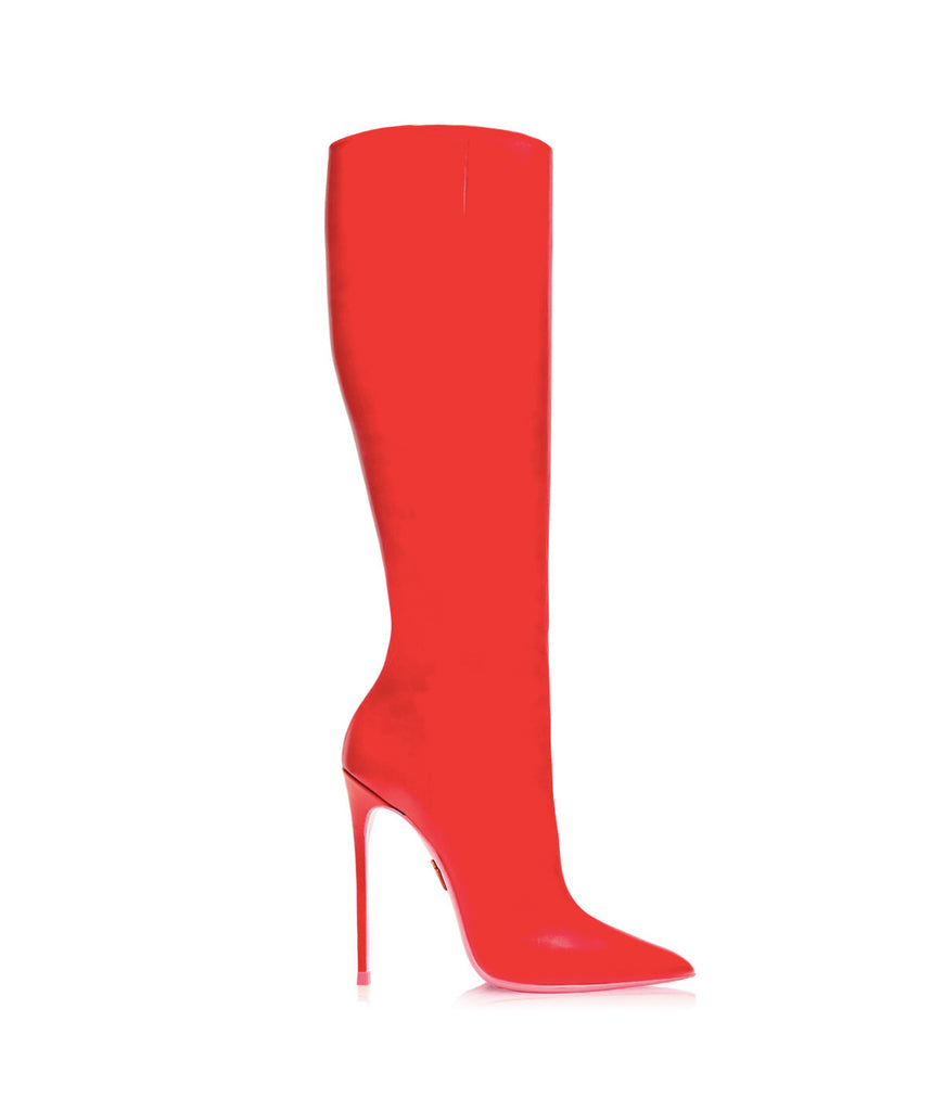 Deneb Red · Ada de Angela High Heels Boots · Ada de Angela Shoes · High Heels Boots · Luxury Boots · Knee High Boots · Stiletto · Leather Boots