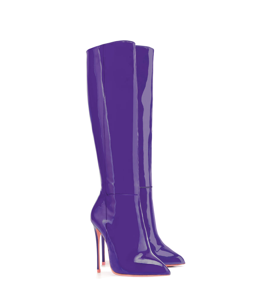 Hydor Purple Patent · Ada de Angela High Heels Boots · Custom Made · Ada de Angela Boots · Luxury High Heels Boots · Luxury Boots · Knee High Boots · Stiletto · Leather Boots