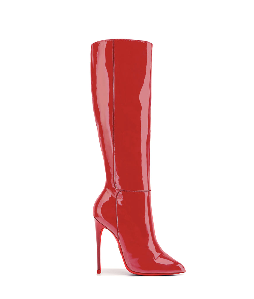 Hydor Red Patent · Ada de Angela High Heels Boots · Custom Made · Ada de Angela Boots · Luxury High Heels Boots · Luxury Boots · Knee High Boots · Stiletto · Leather Boots