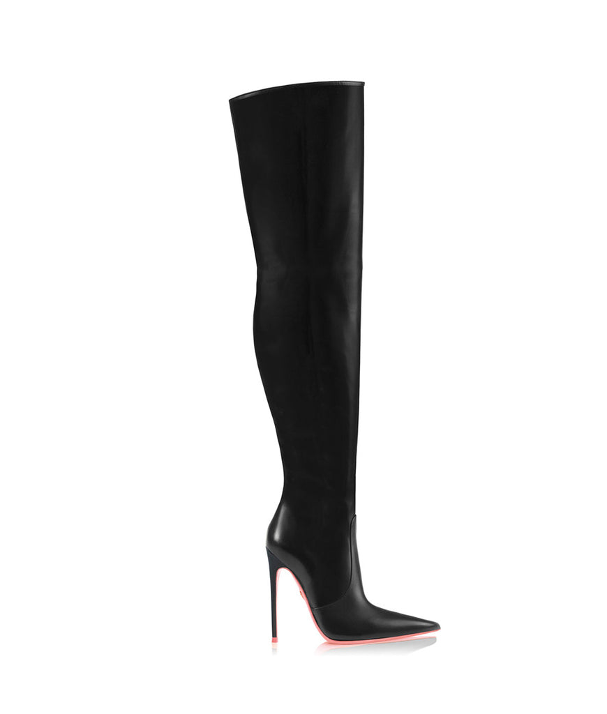 Kraz  Black · Ada de Angela High Heels Boots · Ada de Angela Shoes · High Heels Boots · Luxury Boots · Over Knee High Boots · Stiletto · Leather Boots