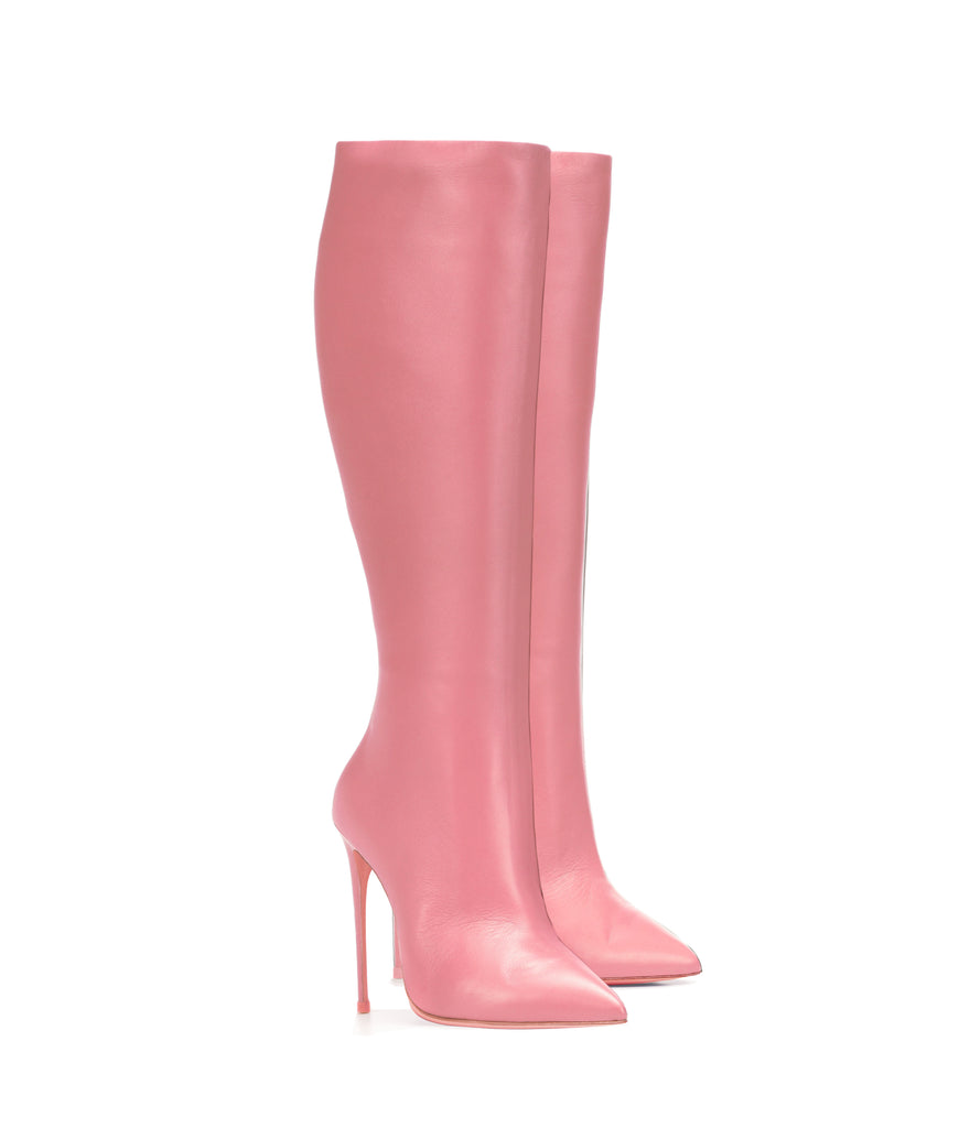 Sadira Pink  · Ada de Angela High Heels Boots · Custom Made Boots  · High Heels Boots · Luxury Boots · Knee  High Boots · Stiletto · Leather Boots