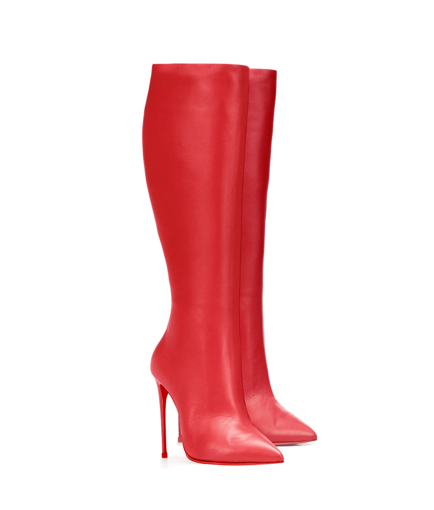 Sadira Red  · Ada de Angela High Heels Boots · Custom Made Boots  · High Heels Boots · Luxury Boots · Knee  High Boots · Stiletto · Leather Boots