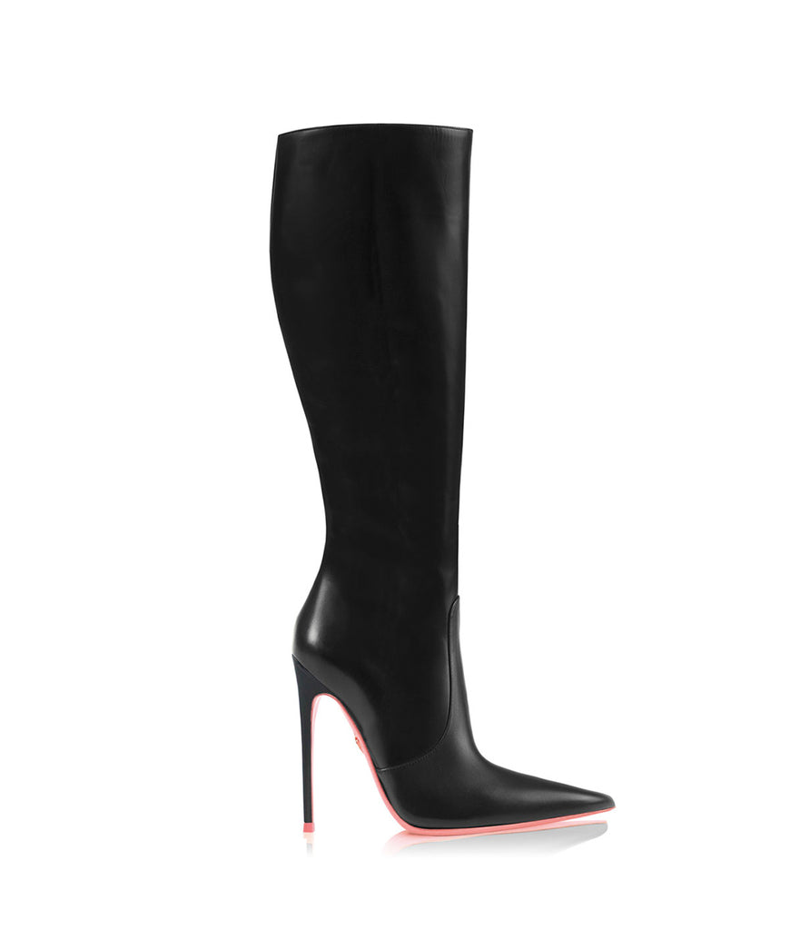 Tiaki  Black · Ada de Angela High Heels Boots · Custom Made Boots · High Heels Boots · Luxury Boots · Knee High Boots · Stiletto · Leather Boots
