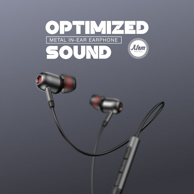 oraimo Atom Optimized Sound in-Ear Wired Earphones