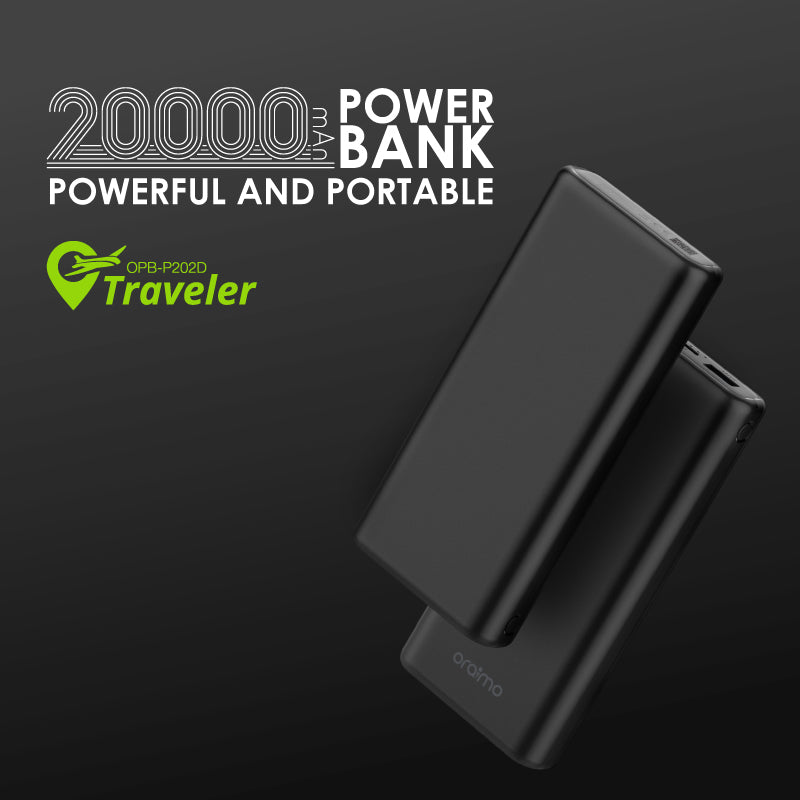 oraimo Traveler 20000mAh Powerful And Portable Power Bank