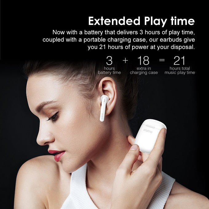 oraimo FreePods-Ease TWS Half-in-Ear True Wireless Stereo Earbuds