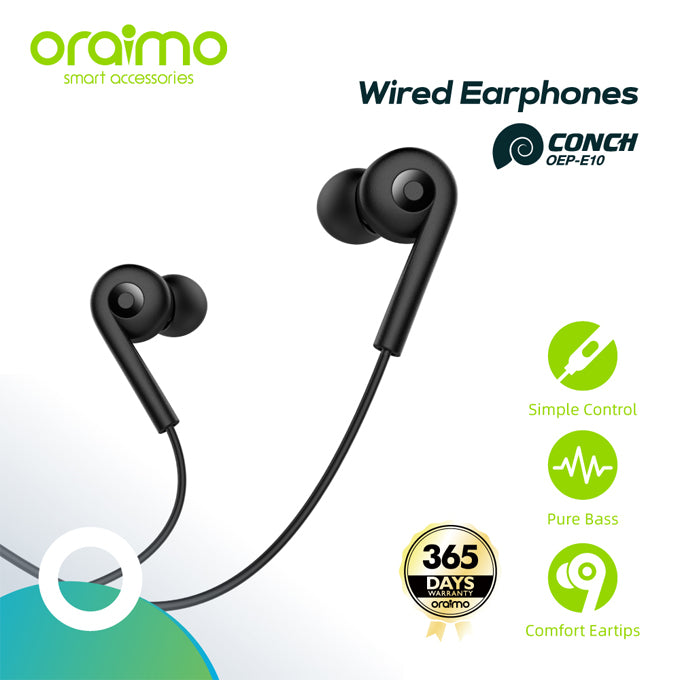 oraimo Conch in-Ear Wired Earphones with Mic