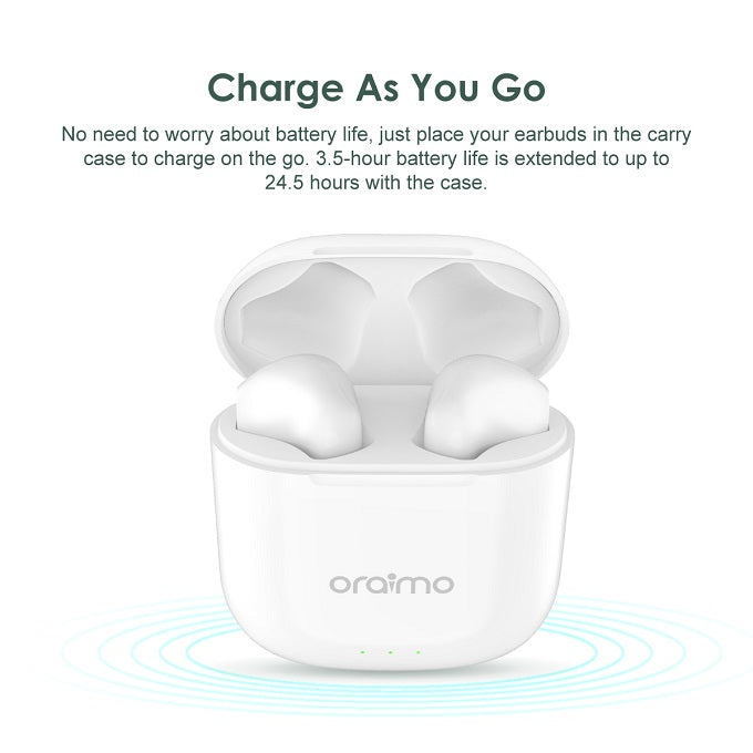 oraimo FreePods-2S Half in-Ear TWS True Wireless Earbud
