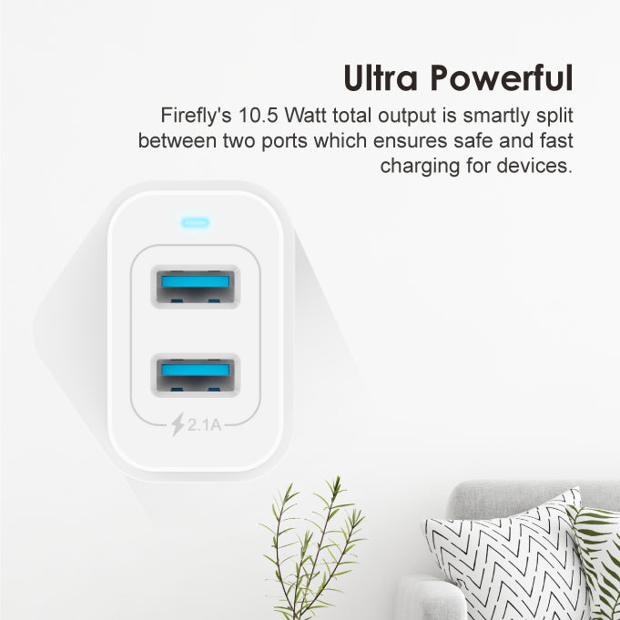 oraimoFirefly 5.0V/2.1A Dual USB Fast Wall Charger
