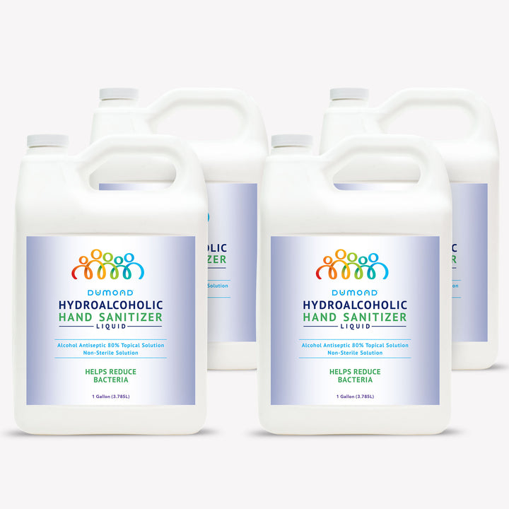 Hydroalcoholic Hand Sanitizer - 1 Gallon - Pack of 4 - Dumond  Hand Sanitizers