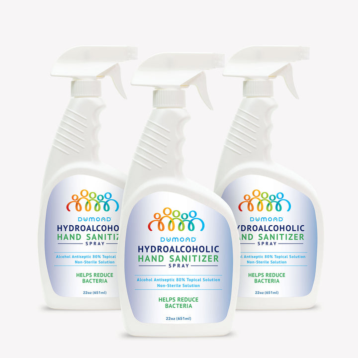 Hydroalcoholic Hand Sanitizer - 22 oz - Pack of 3 - Dumond  Hand Sanitizers