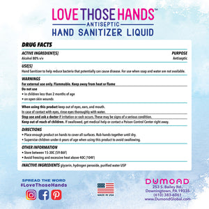 Love Those Hands™ Antiseptic Hand Sanitizer - 1 Gallon - Dumond  Hand Sanitizers