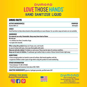 Love Those Hands™ Family - 1 Gallon - Dumond  Hand Sanitizers