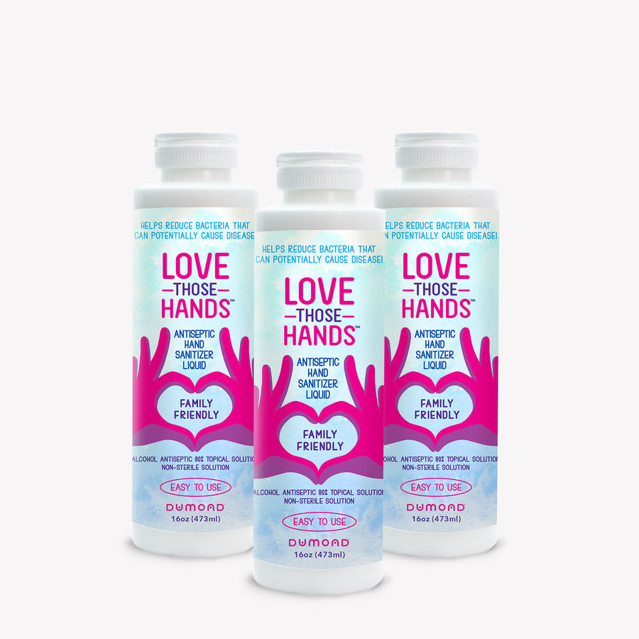 Love Those Hands™ Antiseptic Hand Sanitizer - 16 oz - Pack of 3 - Dumond  Hand Sanitizers