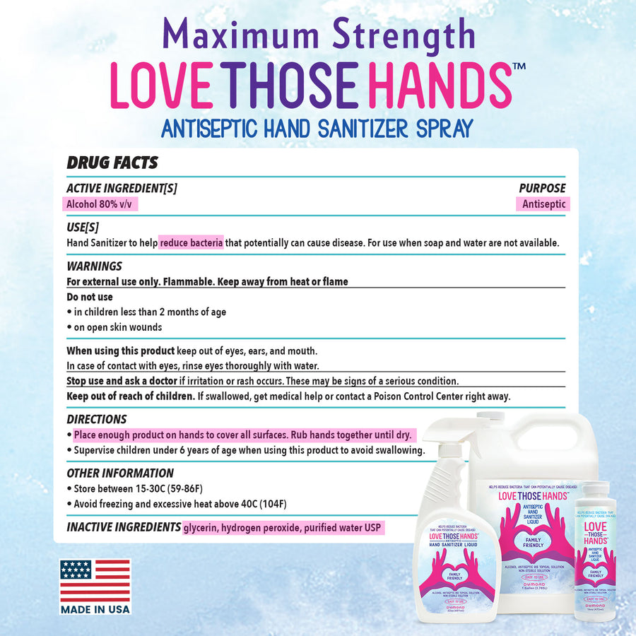 Love Those Hands™ Antiseptic Hand Sanitizer - 1 Gallon - Pack of 4 - Dumond  Hand Sanitizers
