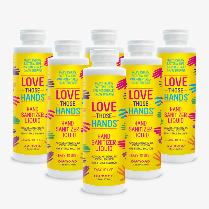 Love Those Hands™ Family - 16 oz - Pack of 6 - Dumond  Hand Sanitizers