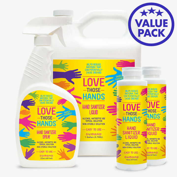 Love Those Hands™ Family Value Pack - Dumond  Hand Sanitizers