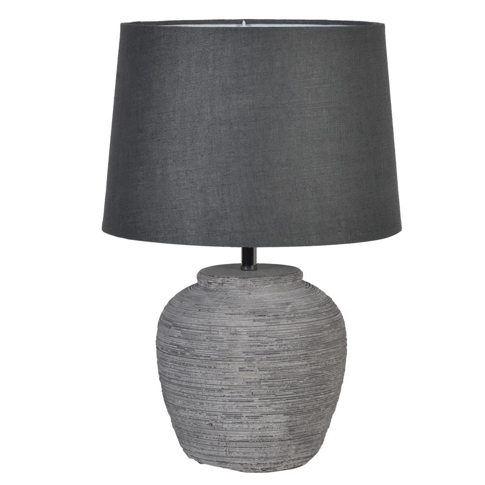 Grey Distressed Lamp with Shade