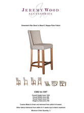 Load image into Gallery viewer, Greenwich Bar Stool with Medium Oak Finish