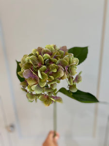Antique lavender and olive Faux Hydrangea