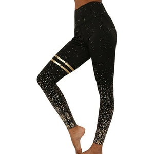 Load image into Gallery viewer, Varsity Striped Sparkle Leggings
