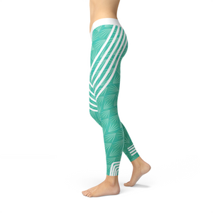 Load image into Gallery viewer, Turquoise Sports Leggings