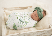 Load image into Gallery viewer, Enchanted I Baby Jersey Wrap & Beanie Set