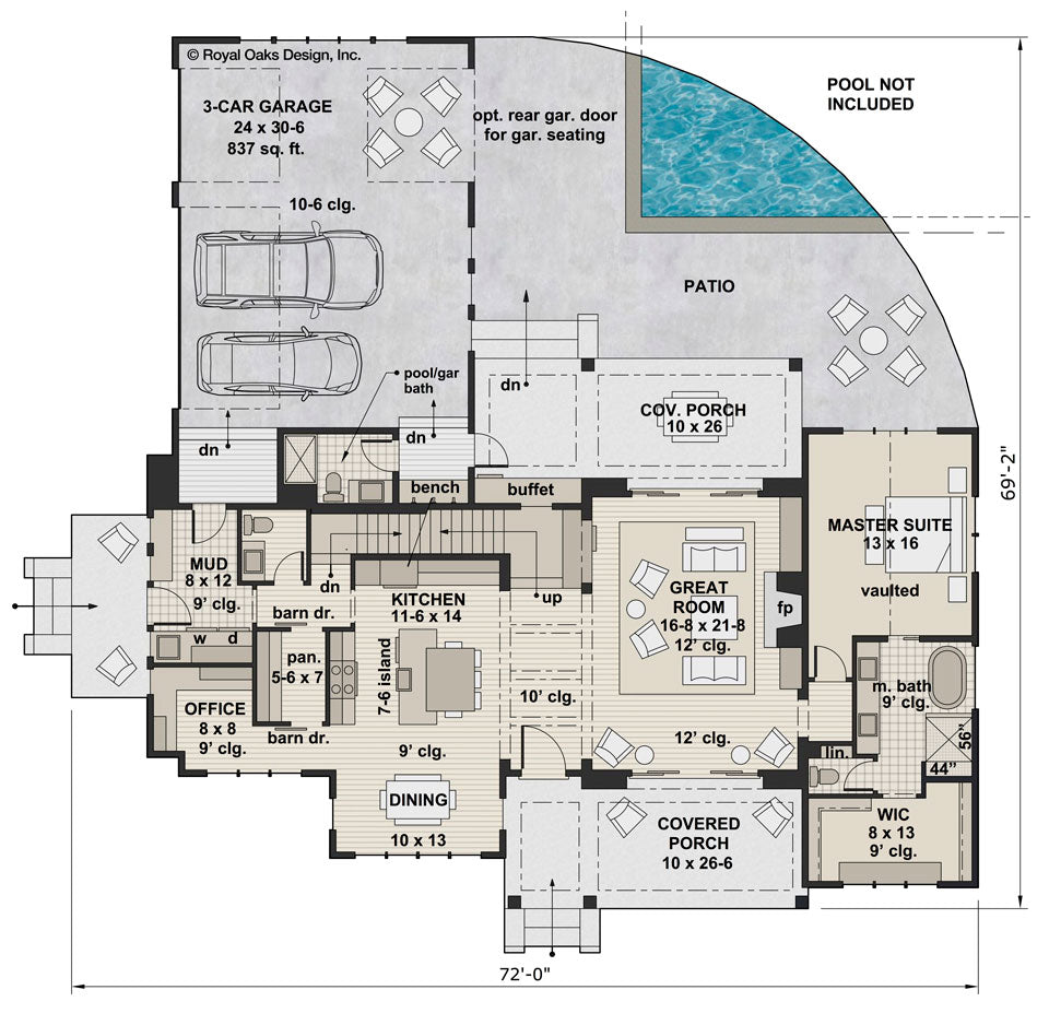 Foxtail Farm main floor plan
