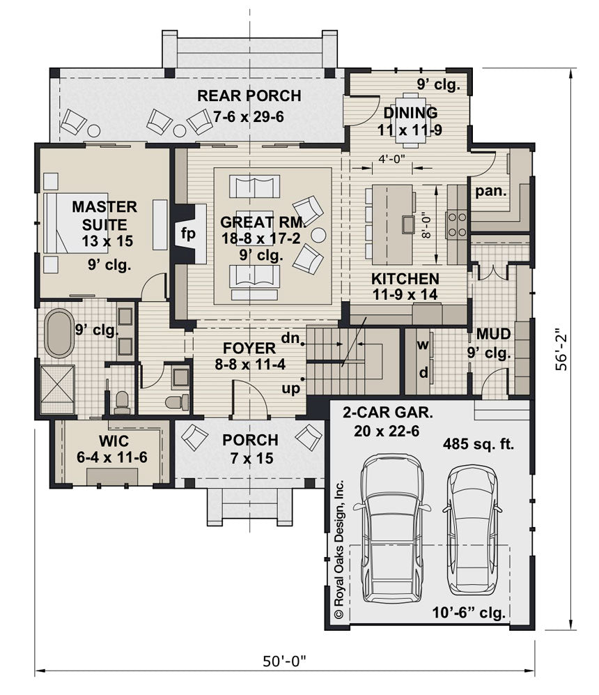 Mossy Pine Farm House Plan