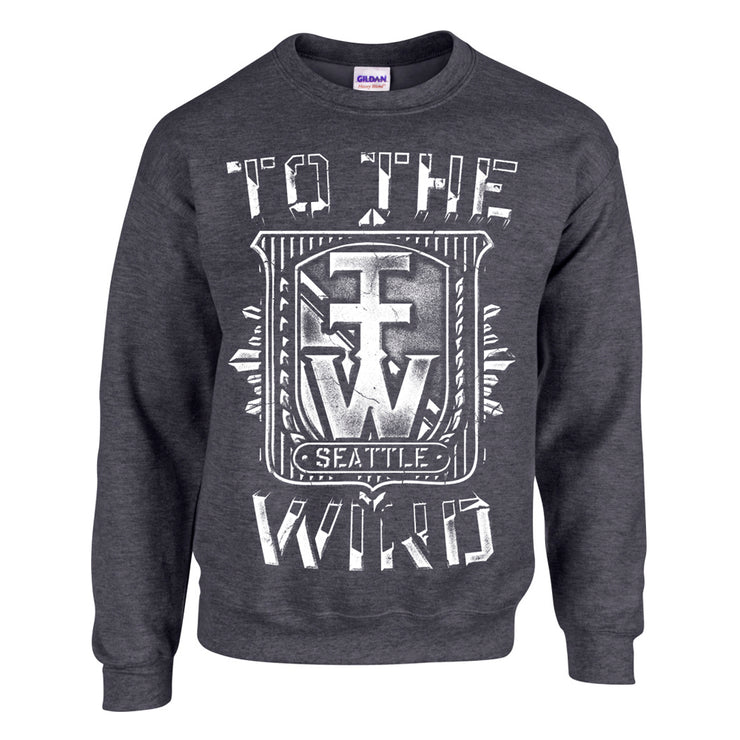 Crest Dark Heather Crewneck