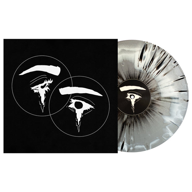 Halo Of Hurt  White, Silver Aside/Bside W/ Heavy Black Splatter