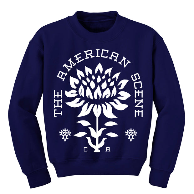 Flower Navy Blue Crewneck
