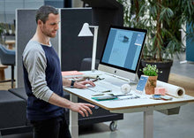 Load image into Gallery viewer, Height adjustable (Sit-Stand) Office Desk that helps you with posture and back care