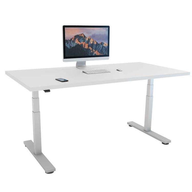 Height adjustable Office Desk that encourages back care and overall wellness
