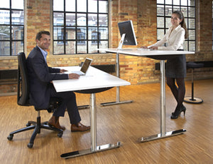 Height adjustable (Sit-Stand) Office Desk that helps you with posture and back care