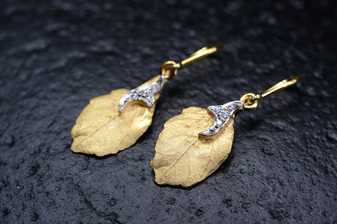 Le Foglie Earrings / CG20-E04-SSCZ