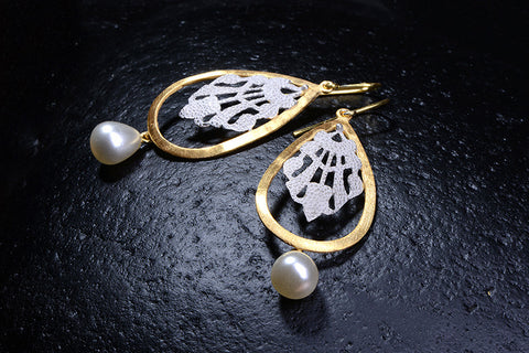 Le Foglie Earrings / CG20-E09-SSCP