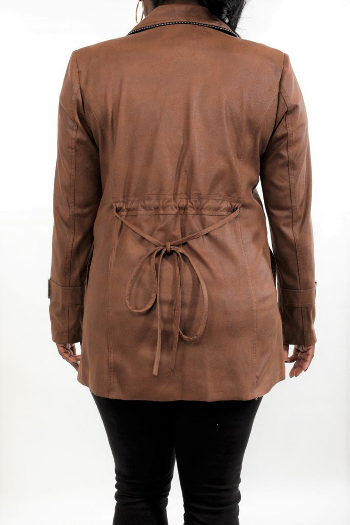 Insight Vegan Leather Cappuccino Jacket