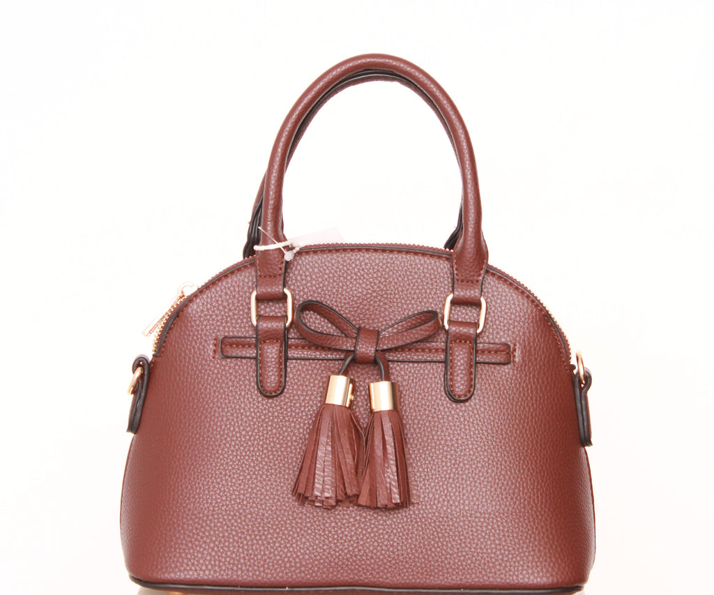 Domed Satchel Purse with Bow